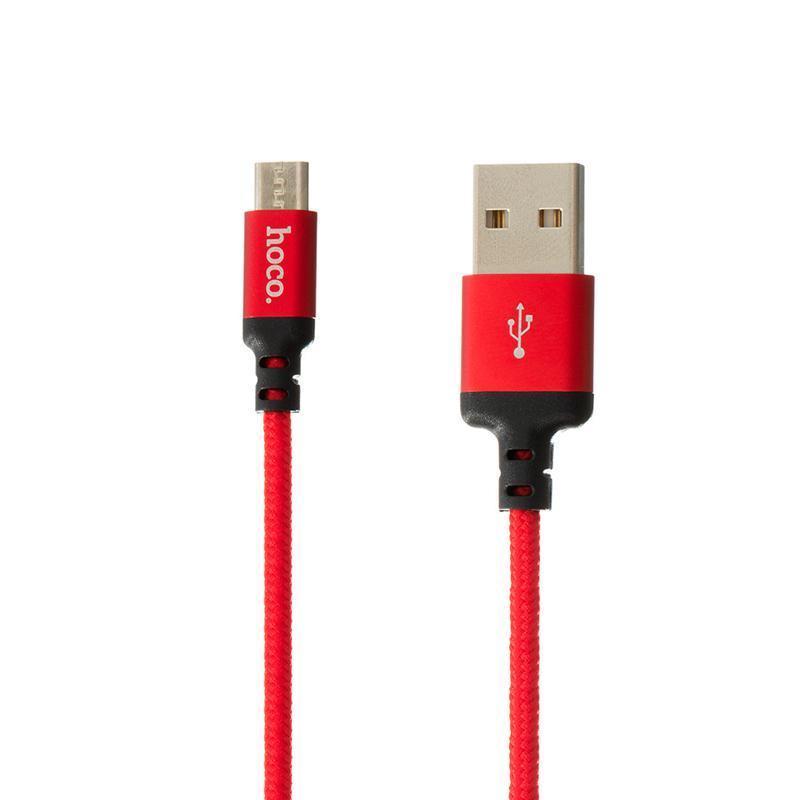 Кабель USB Hoco X14 Times Speed MicroUSB 2 метра Red/Black