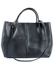 Кожаная сумка черная Lux 6759-11