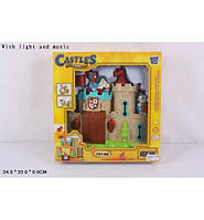 Крепость с фигурками на батарейках, игровой набор для мальчиков музыка свет в коробке