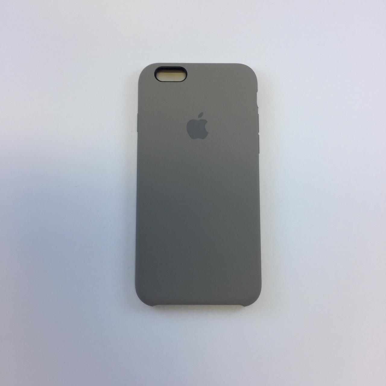 Силиконовый чехол iPhone 6/6s Plus, темная олива, силикон, copy original