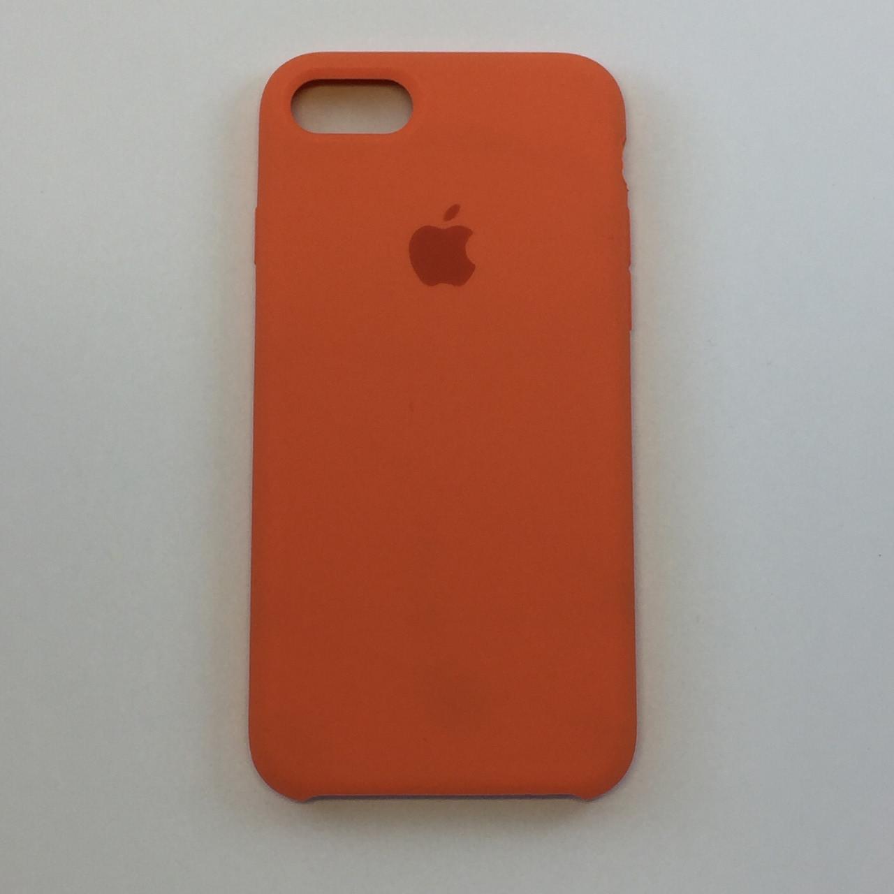 Силиконовый чехол OEM Silicon Case для iPhone 8 Plus, сочный персик