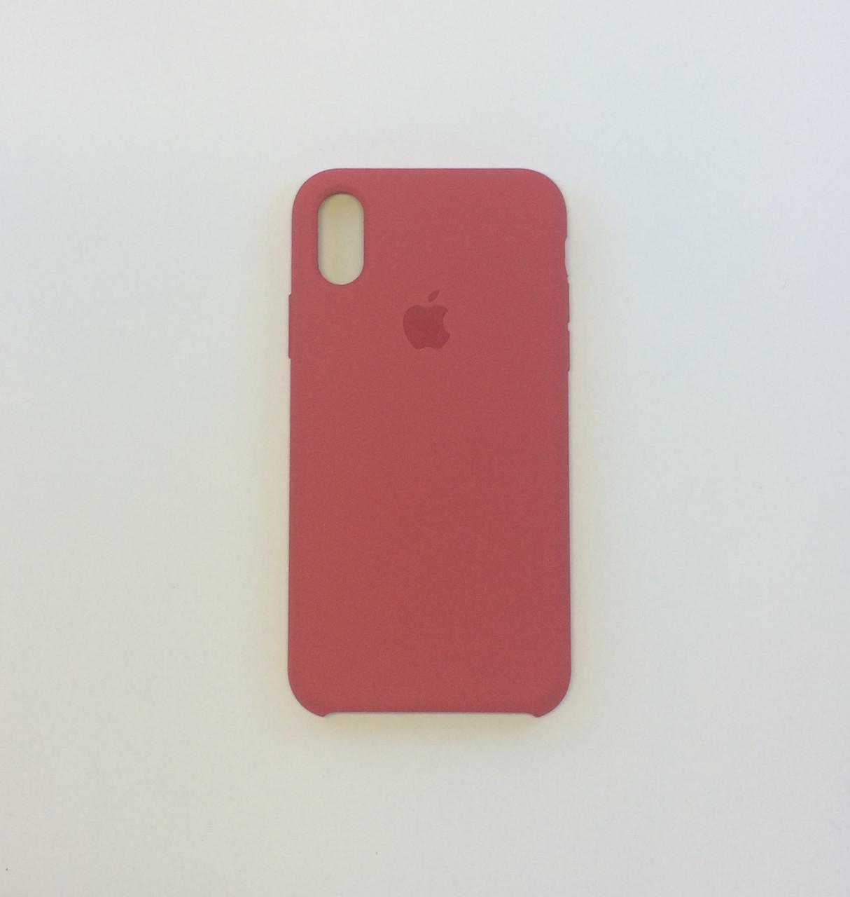 Силиконовый чехол iPhone X, спелая малина, силикон, copy original
