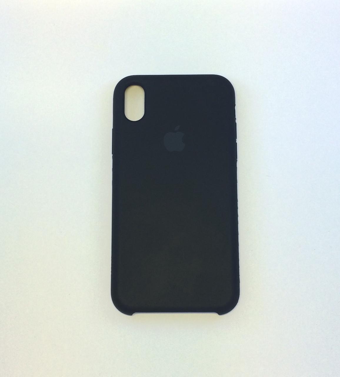 Силиконовый чехол iPhone X, черный, силикон, copy original