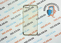 Чехол силиконовый с цветным контуром для iPhone 6/6s -silver
