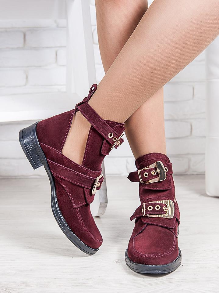 Ботинки Balenciaga марсала 6322-28