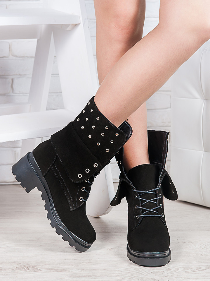 Ботинки замшевые Лиана 6865-28