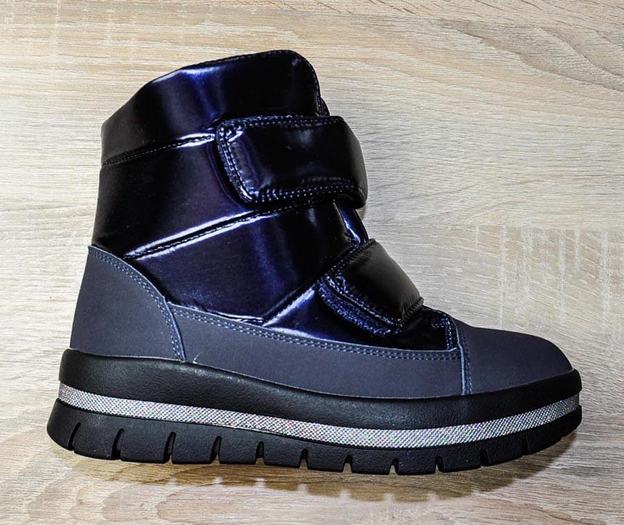 Ботинки зимние синего цвета на липучках для девочки, WeeStep