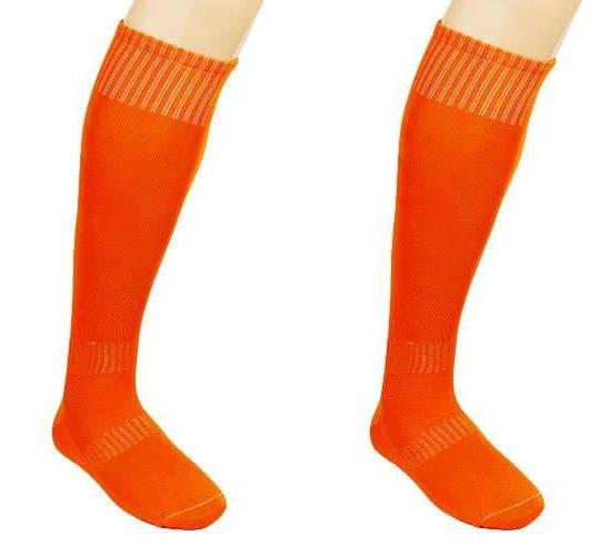 Гетры футбольные взрослые оранжевые CO-5087-OR