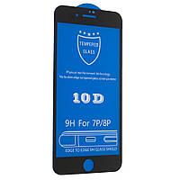 Защитное стекло 10D для iPhone 6 Plus / 6s Plus Черный