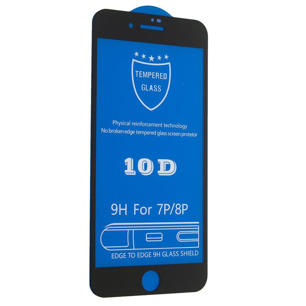 Защитное стекло 10D для iPhone 7 Plus / 8 Plus Черный
