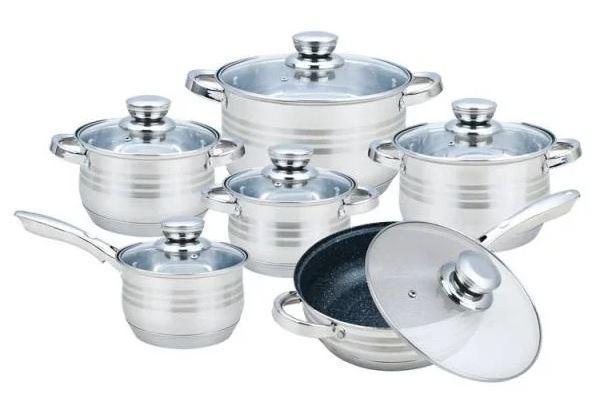 Набор Кухонной посуды Rainberg RB-601, 12 предметов