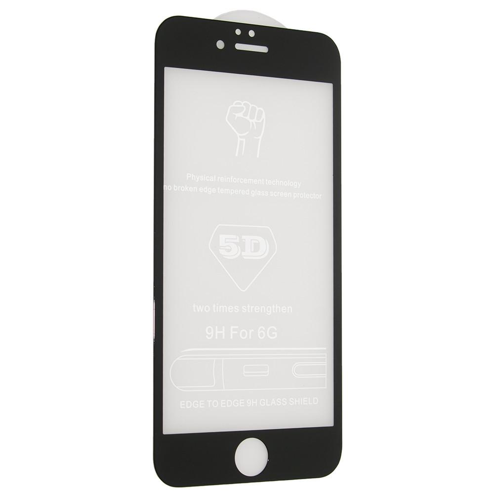 Защитное стекло 5D (монолит) для iPhone 6 / 6s Черный