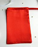 Атласный мешочек для подарка 10 х 16  (Мешочек для упаковки подарка, подарочная упаковка) красный, фото 2
