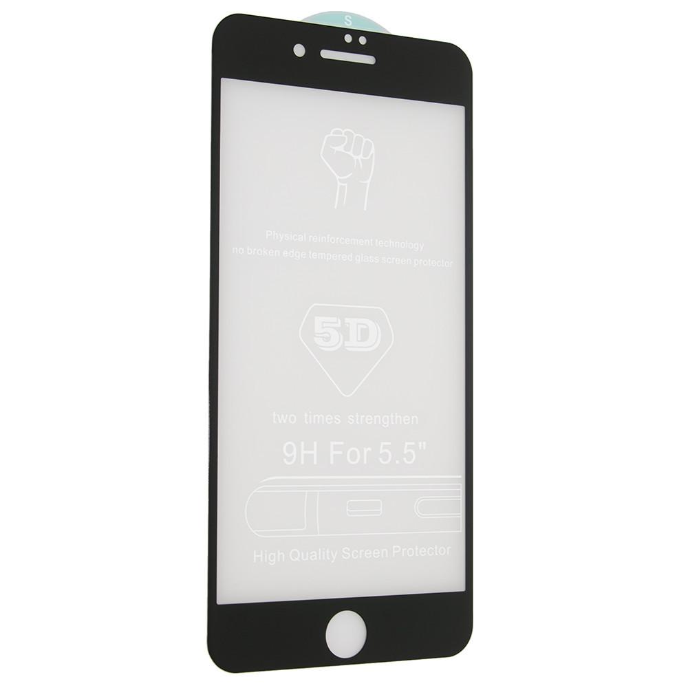 Защитное стекло 5D (монолит) для iPhone 7 Plus / 8 Plus Черный