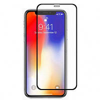 Защитное стекло 5D (монолит) для iPhone 11 Pro / X / Xs Черный