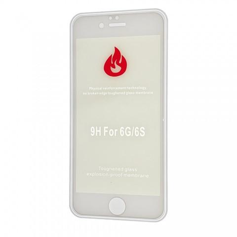 Защитное стекло 2,5+D (рамка) Blue light для iPhone 6/6 Plus - white