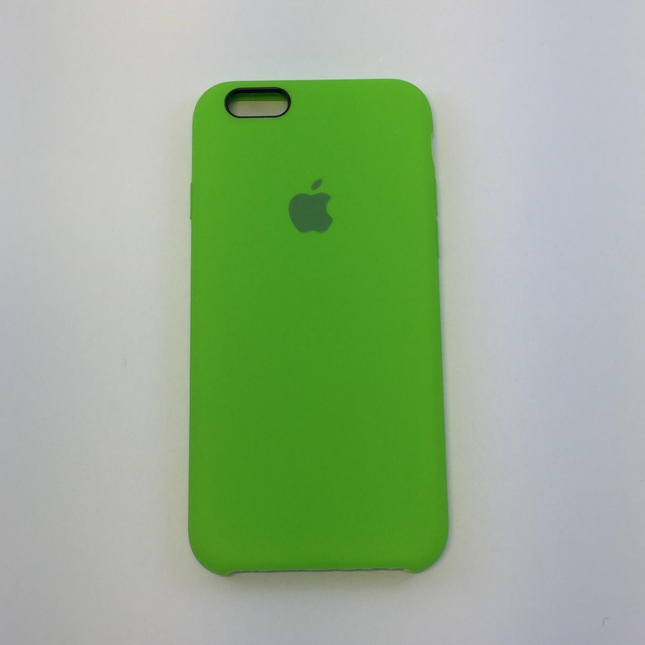 Силиконовый чехол OEM Silicon Case для iPhone 6/6s, лайм