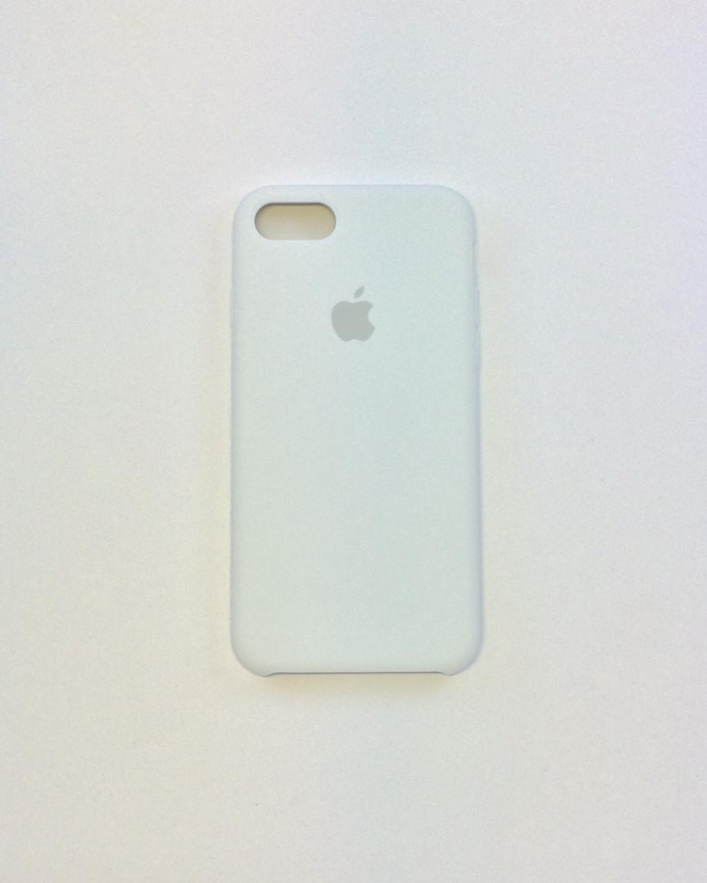 Силиконовый чехол iPhone 7, белый, copy original