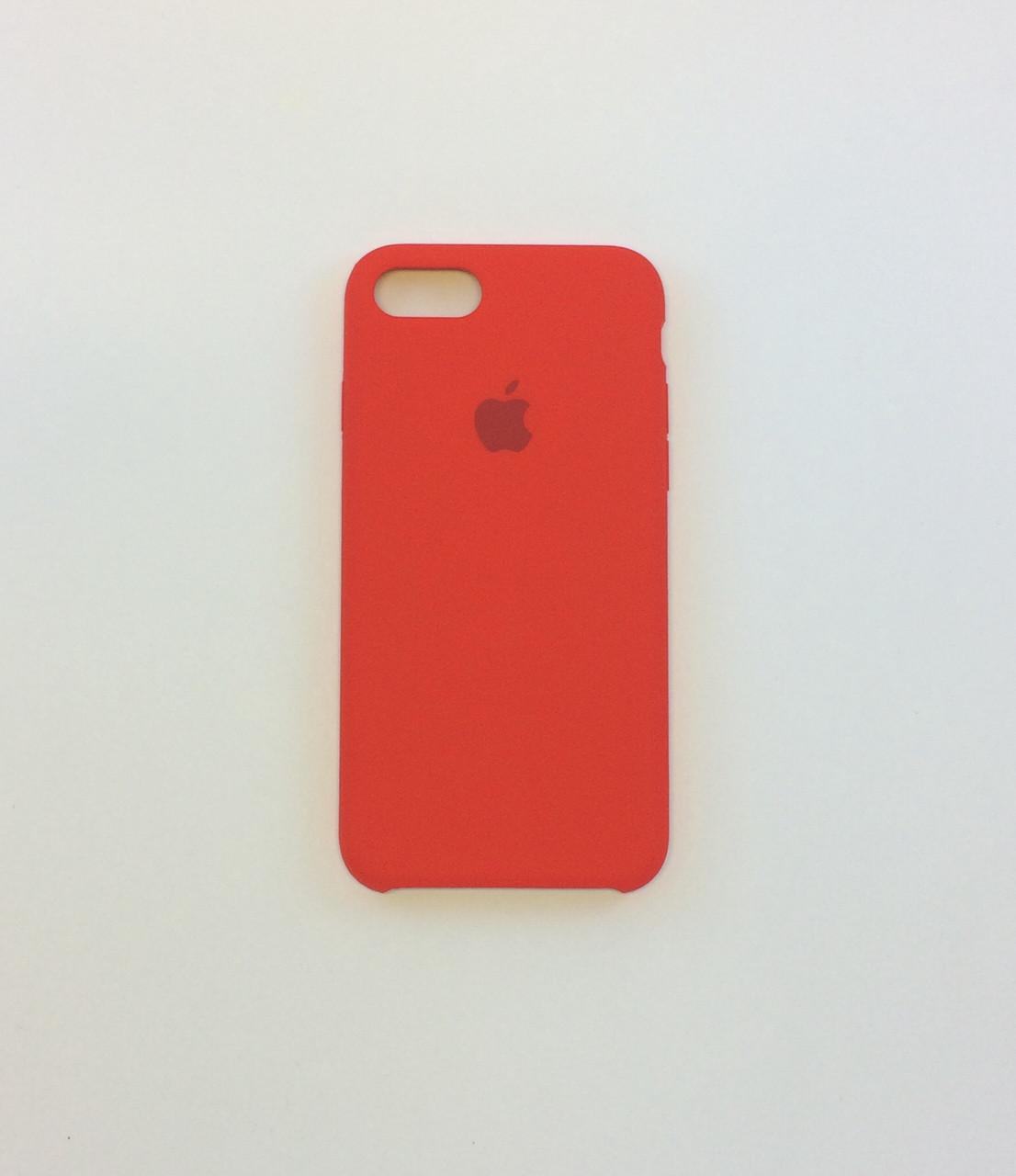 Силиконовый чехол iPhone 8, темно терракотовый, copy original