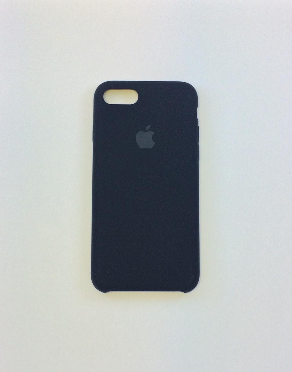 Силиконовый чехол iPhone 8, черный, copy original