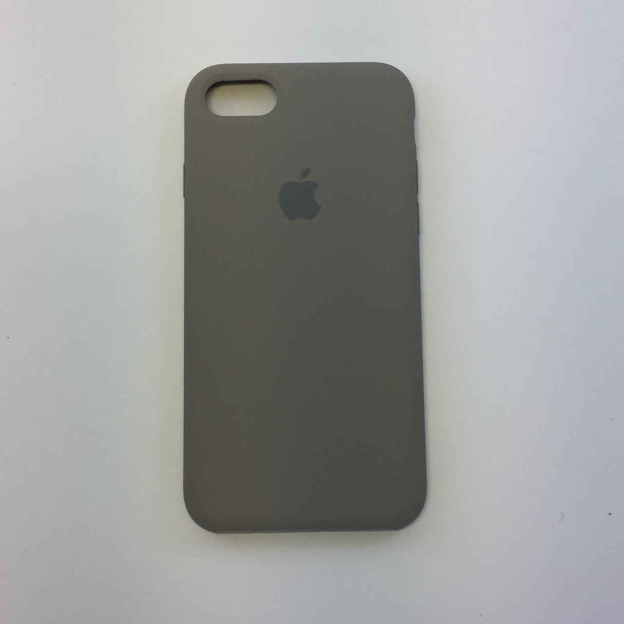 Силиконовый чехол iPhone 8, темная олива, copy original