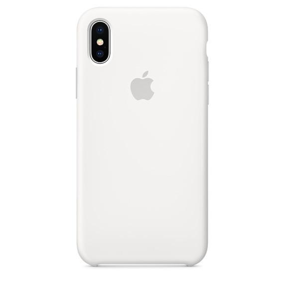 Силиконовый чехол iPhone X / Xs, белый, copy original