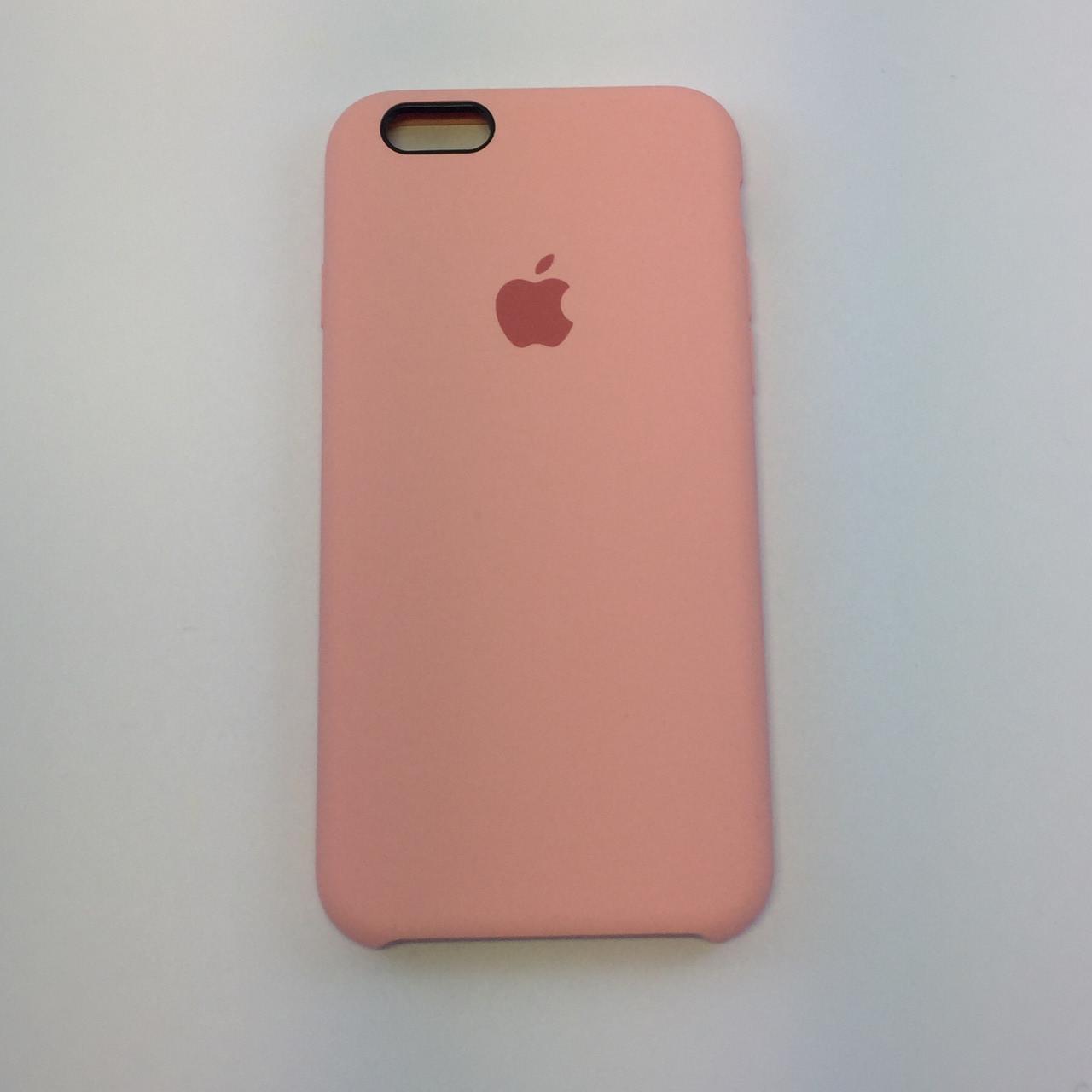 Силиконовый чехол iPhone 6/6s, нежно-розовый, copy original