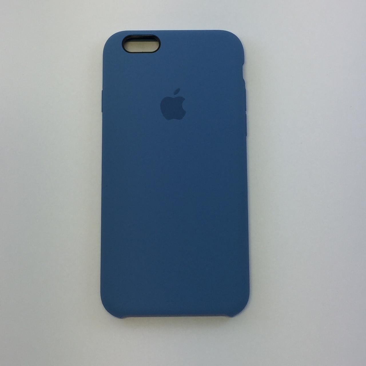 Силиконовый чехол iPhone 6/6s, лазурь, copy original