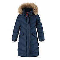 Зимнее детское пальто-пуховик для девочки Reima Reima Satu для девочки 531352-6980 синее