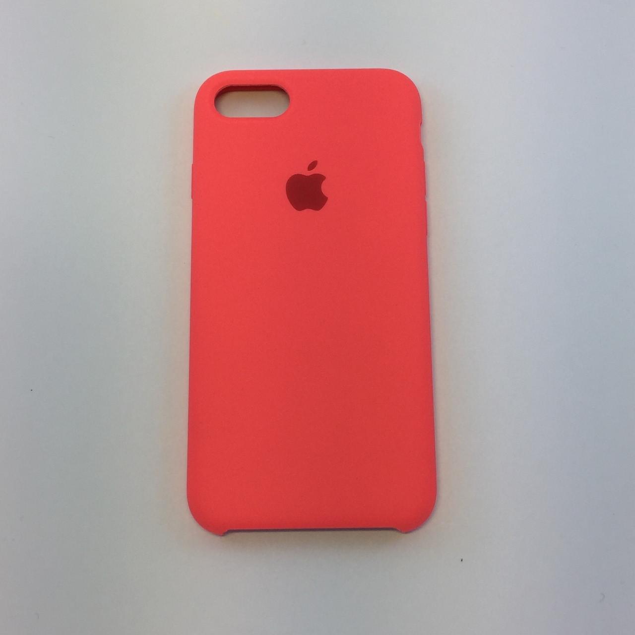 Силиконовый чехол iPhone 7, кораловый, copy original