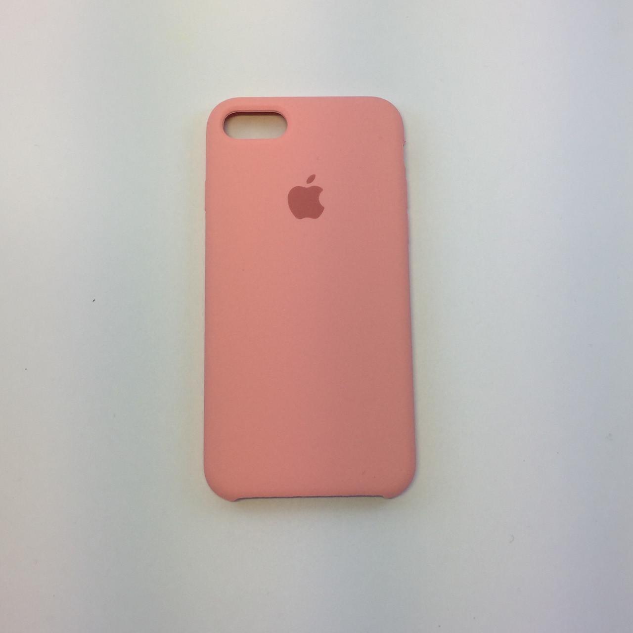 Силиконовый чехол iPhone 8, нежно-розовый, copy original