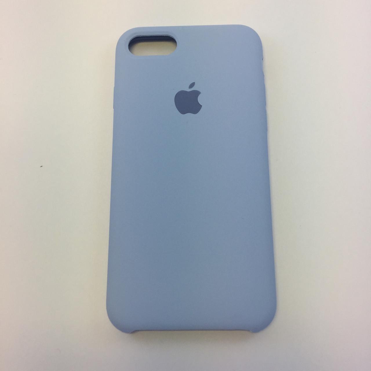 Силиконовый чехол iPhone 8 Plus, кремово лиловый, copy original