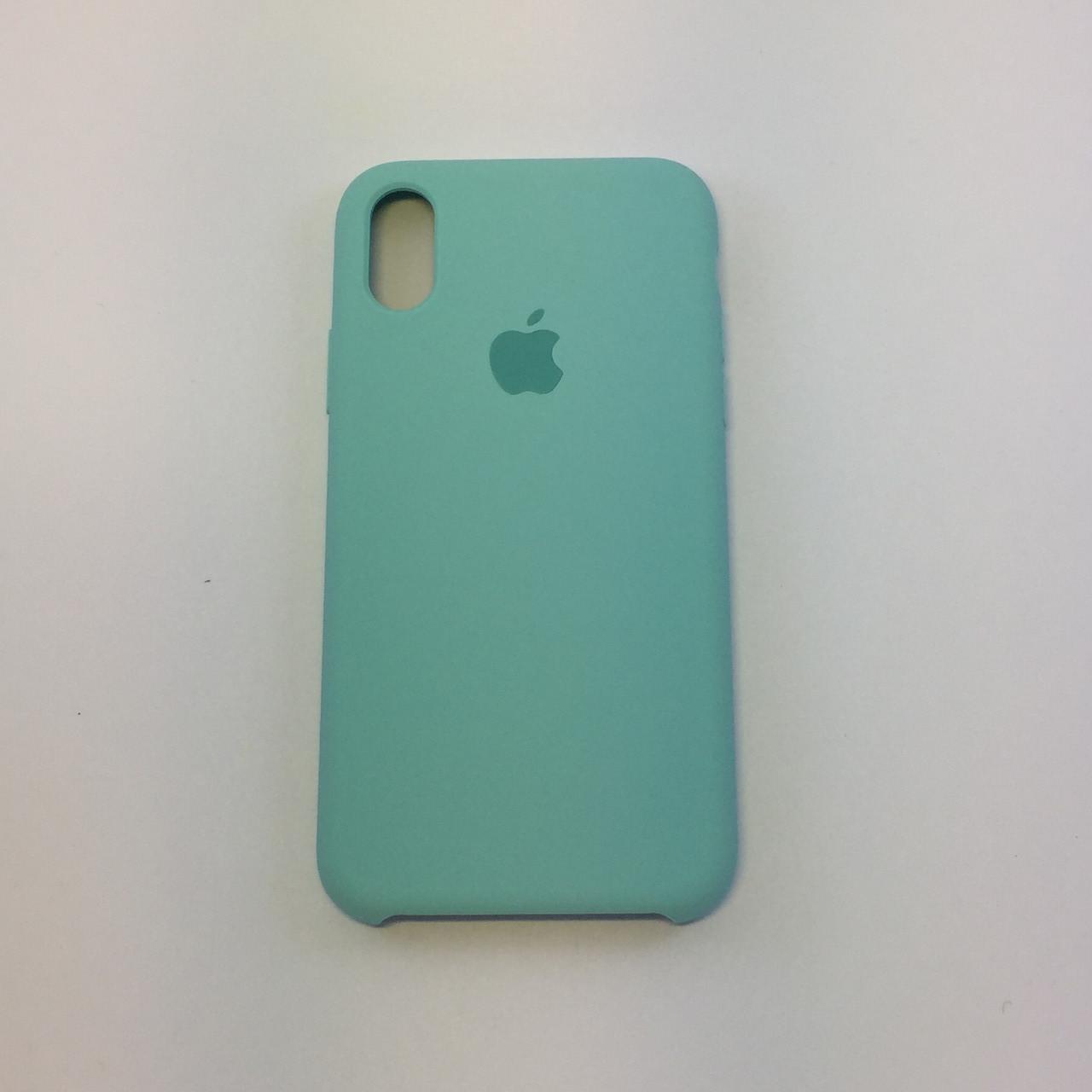 Силиконовый чехол iPhone X / Xs, мята, copy original