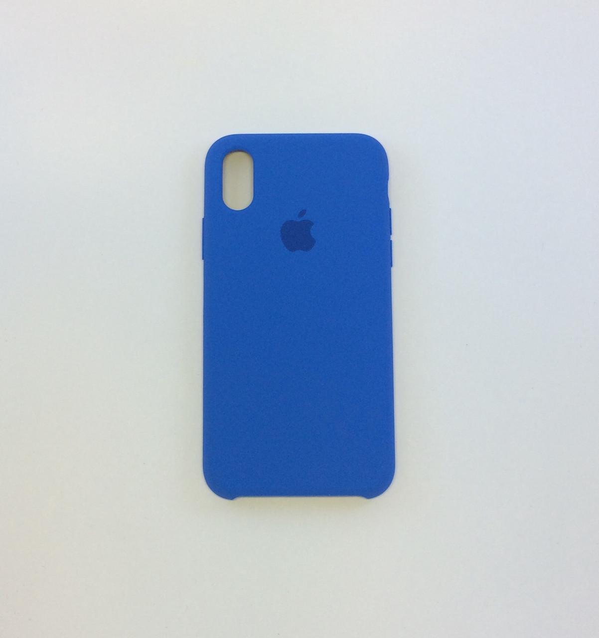 Силиконовый чехол iPhone X / Xs, лазурь, copy original