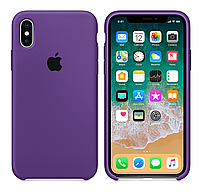 Силиконовый чехол iPhone X / Xs, пурпурный, copy original