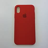 Силиконовый чехол OEM Silicon Case для iPhone Xs Max, темно терракотовый
