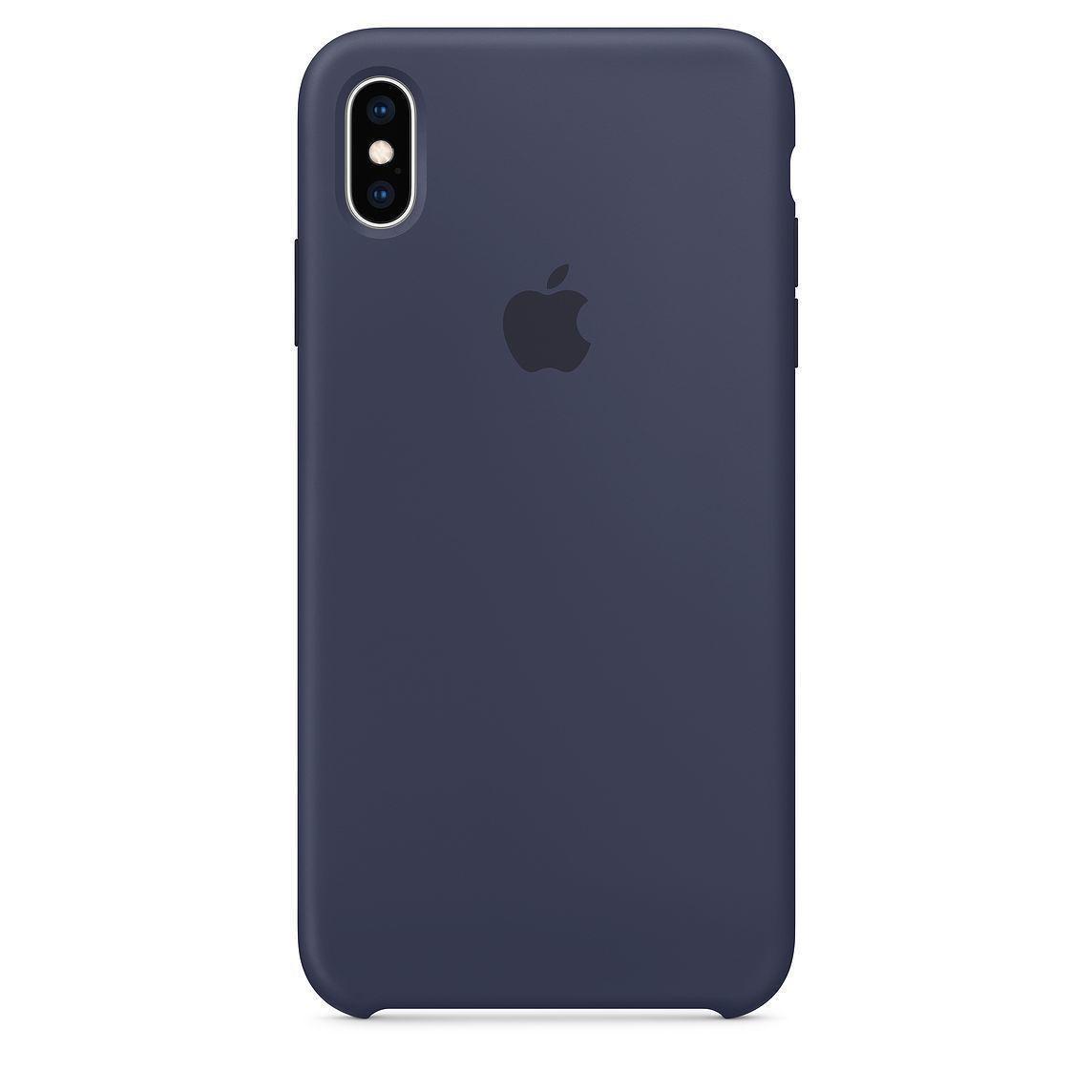 Силиконовый чехол iPhone Xs Max, темно-синий, copy original