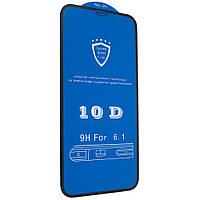 Защитное стекло 10D для iPhone 11 / Xr Черный