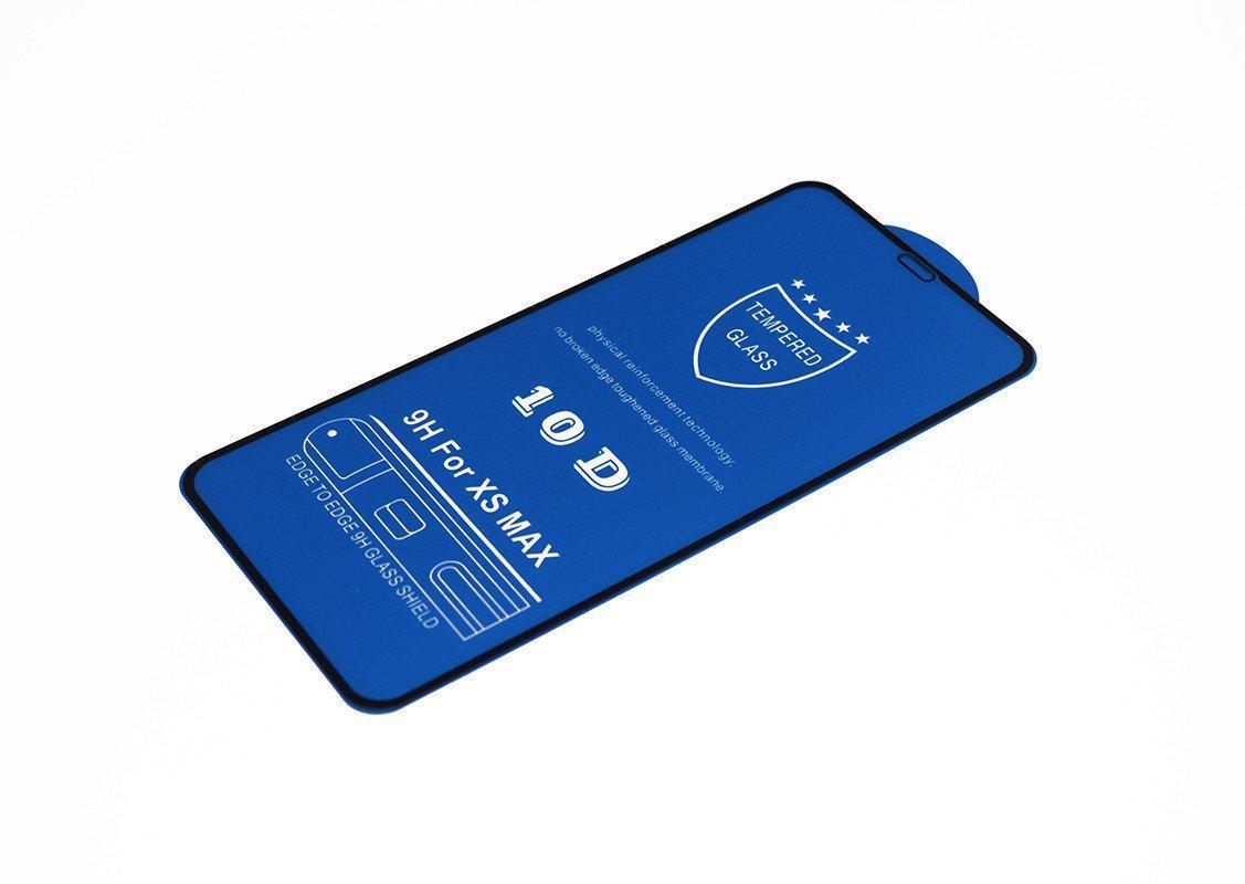 Защитное стекло 10D для iPhone 11 Pro Max / Xs Max Черный