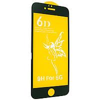 Защитное стекло Premium 6D для iPhone 6/6s black
