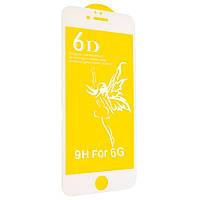 Защитное стекло Premium 6D для iPhone 6/6s Белый