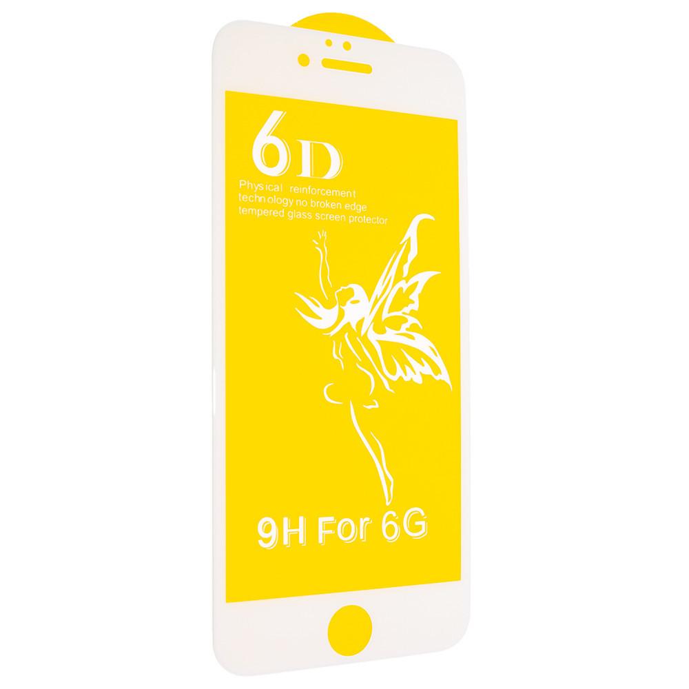 Защитное стекло Premium 6D для iPhone 6 / 6s Белый