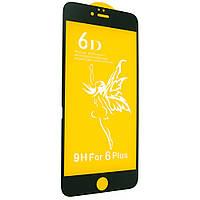 Защитное стекло Premium 6D для iPhone 6/6s Plus Черный