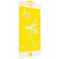 Защитное стекло Premium 6D для iPhone 6/6s Plus white