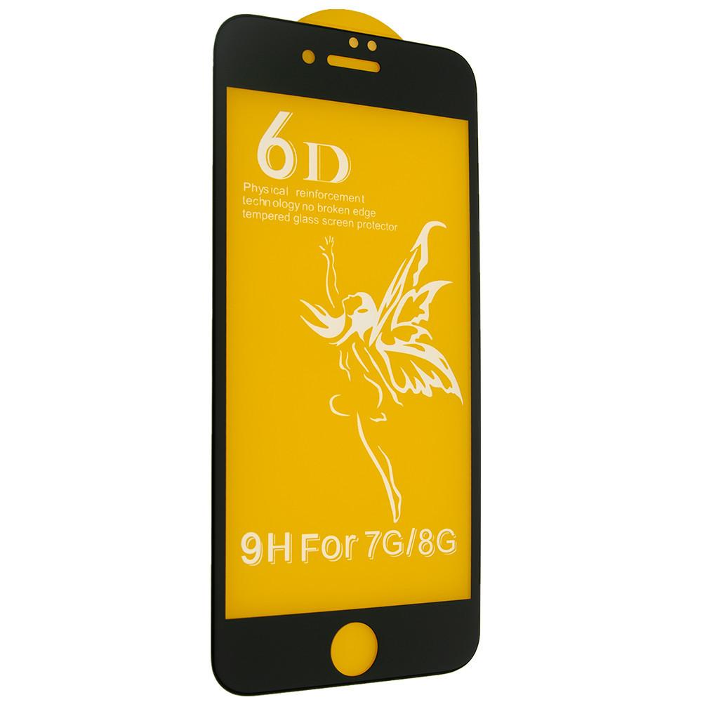 Защитное стекло 6D Premium для iPhone 7 / 8 Белый