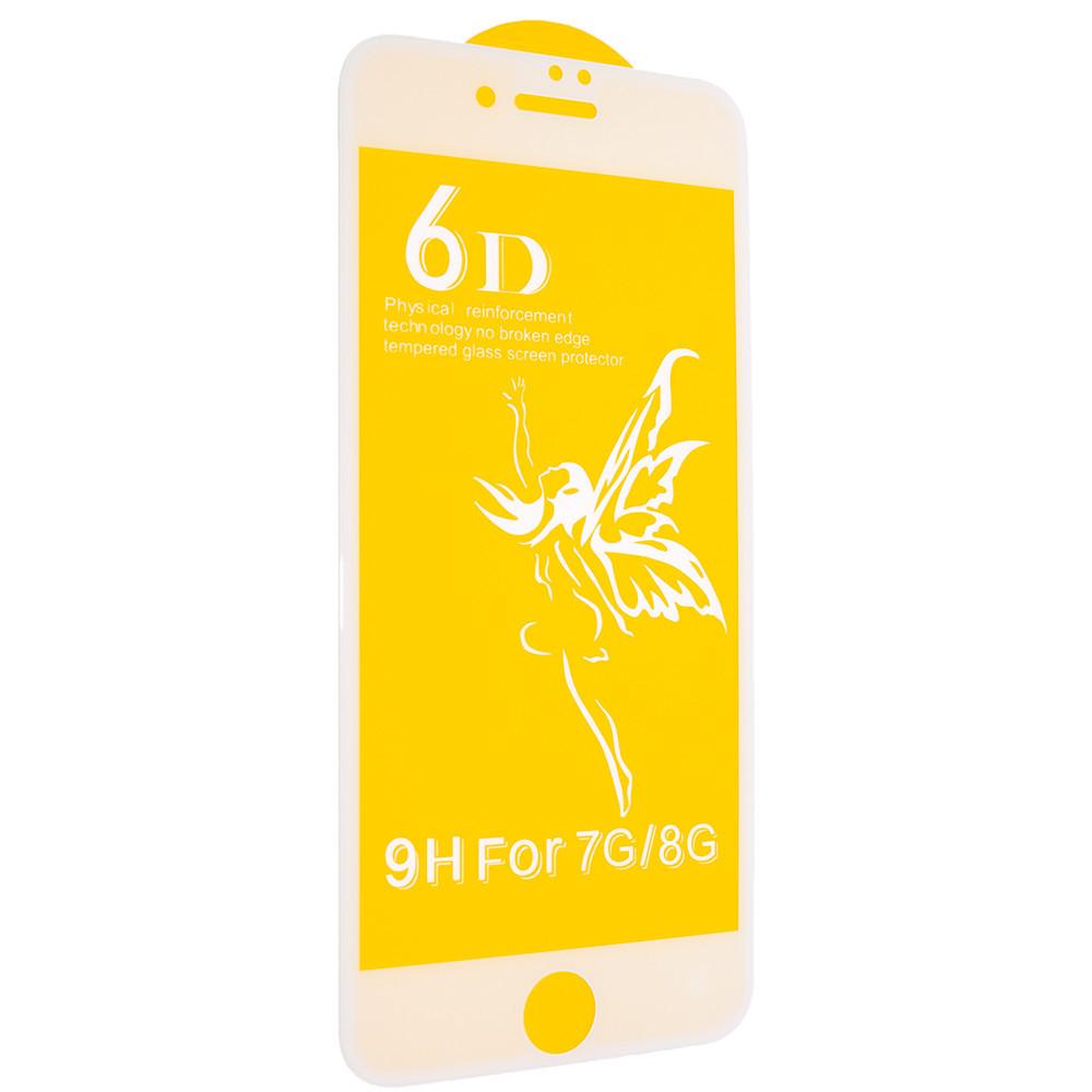 Защитное стекло Premium 6D для iPhone 7 / 8 Белый