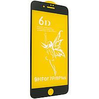 Защитное стекло Premium 6D для iPhone 7 Plus black