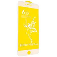 Защитное стекло Premium 6D для iPhone 7 Plus white