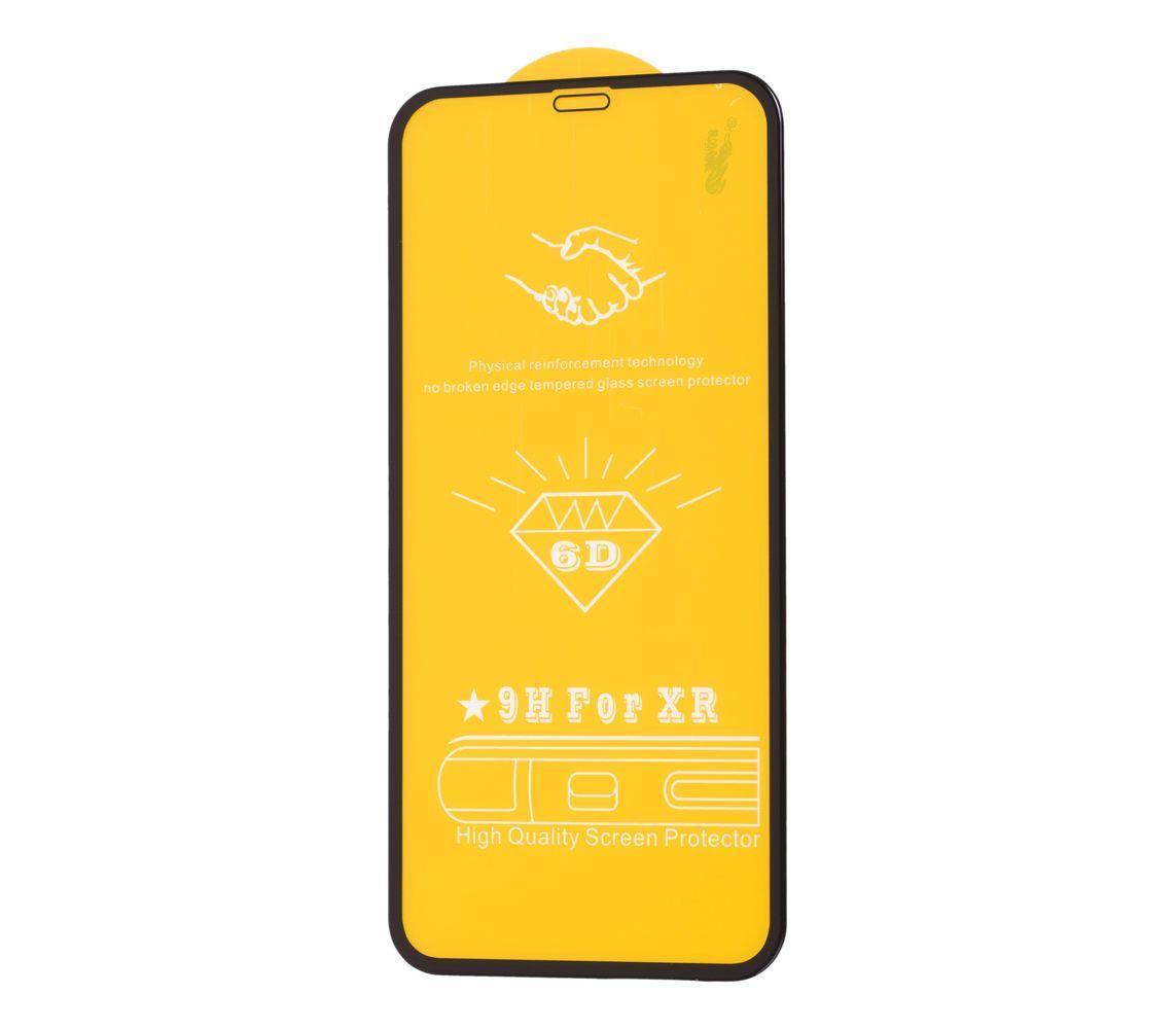 Защитное стекло 6D premium для iPhone Xr (чёрный)