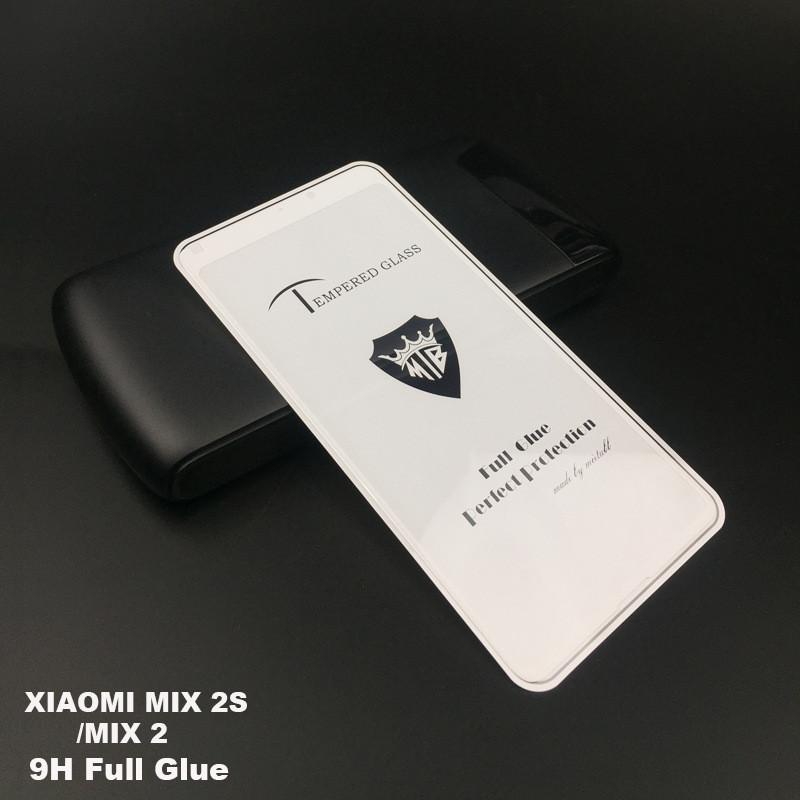 Защитное стекло 5D full glue для XIAOMI MIX 2 - белый